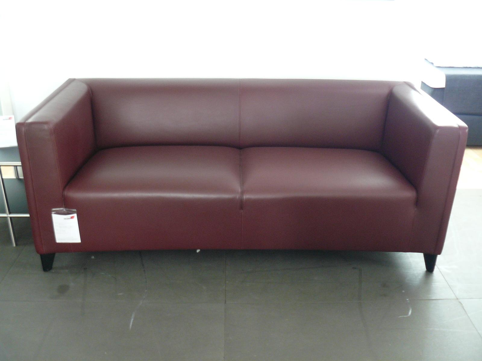 Mein Ausstellungsstück: Designer Sofa Bordeaux Rot ...