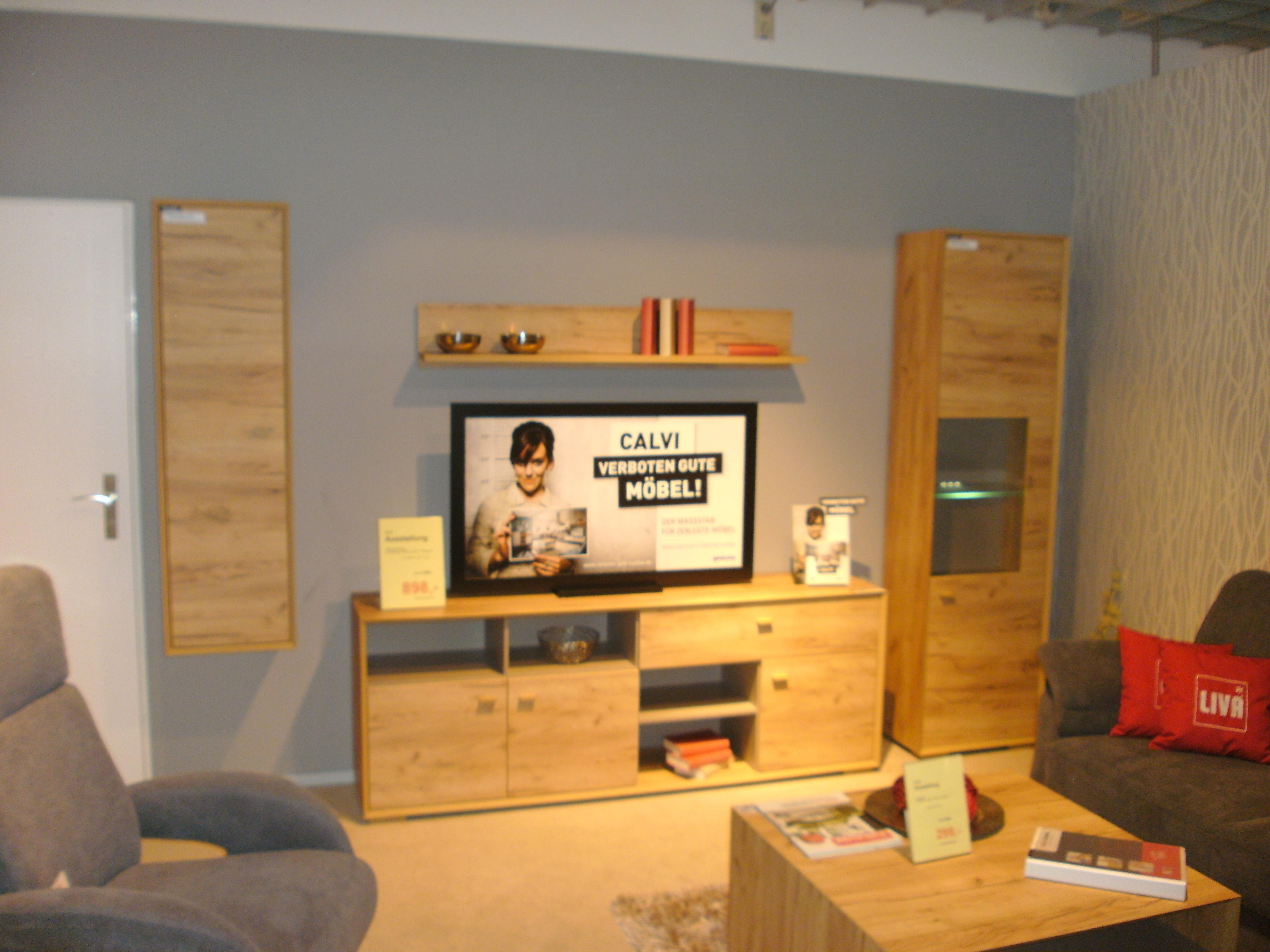 mein ausstellungsst ck wohnwand calvi. Black Bedroom Furniture Sets. Home Design Ideas