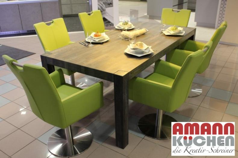 Tisch eiche black white und stühle colorado