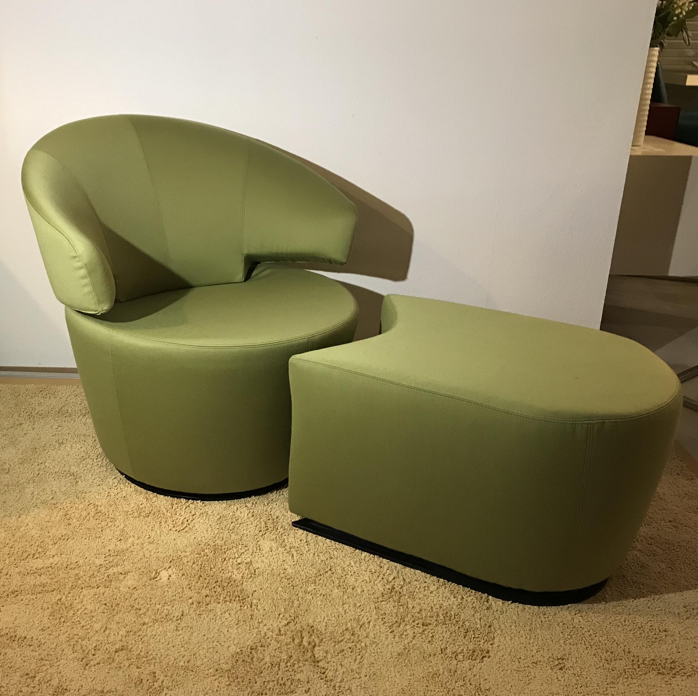 Mein Ausstellungsstuck Sessel Drehbar Mit Hocker Trick Werhter Mobelmanufaktur